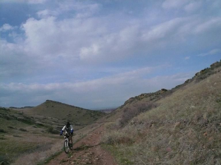 Another mountain biker.