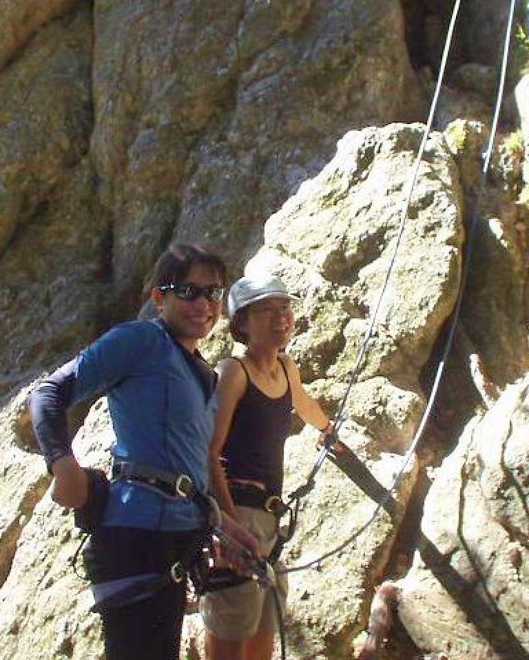 Cute climber ready to climb...