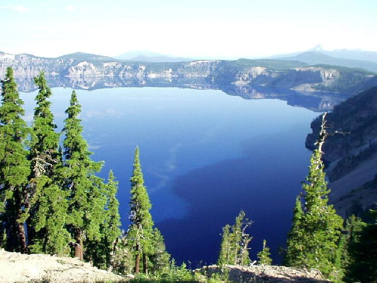 Crater Lake in almost all of its entirety.