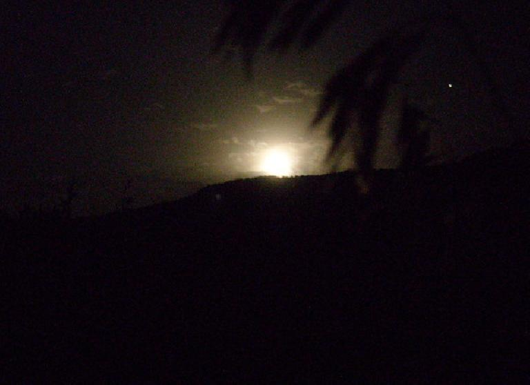 A full moon lit the land as Tanya and I camped.
