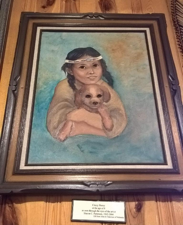Artist depiction of Crazy Horse as a child.