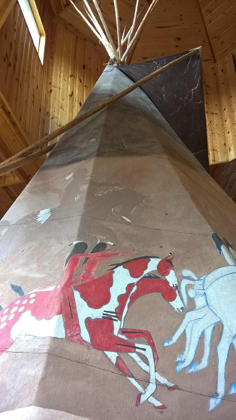 teepee inside Crazy Horse Memorial Visitor Center
