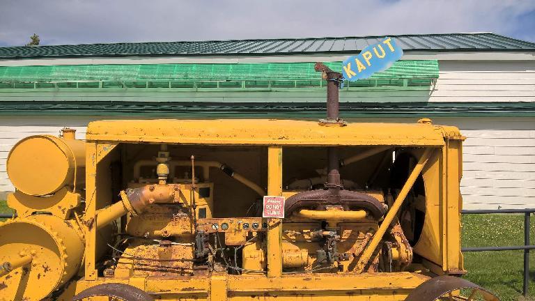 Korczak Ziolkowski yellow air compressor, kaput, Crazy Horse Memorial