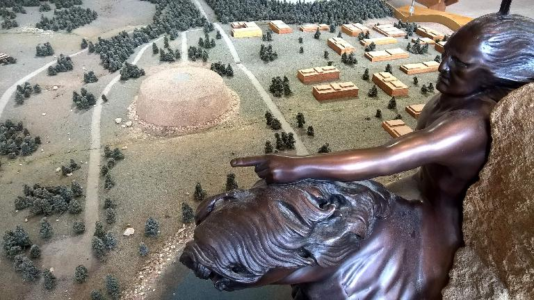 Scale model of Crazy Horse Memorial.