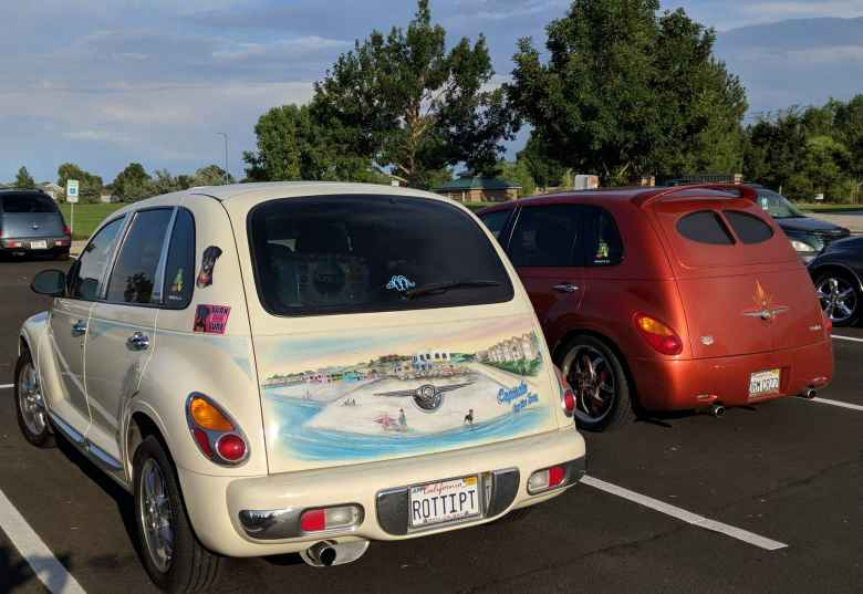 """""""Capitola by the Sea"""" PT Cruiser."""