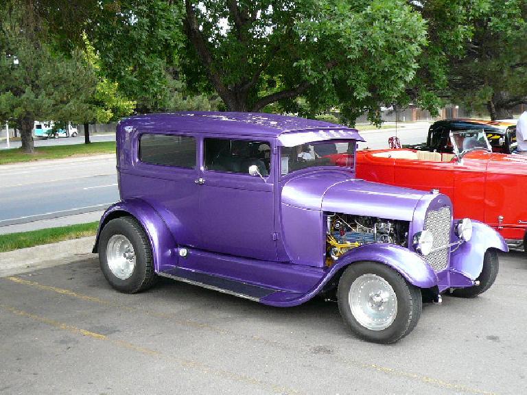 Purple hot rod.
