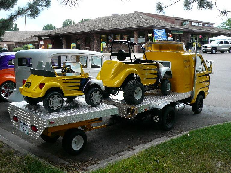 "VW ""tow vehicle"" with matching kid cars!"