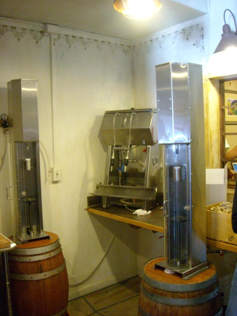 The wine bottling apparatuses.