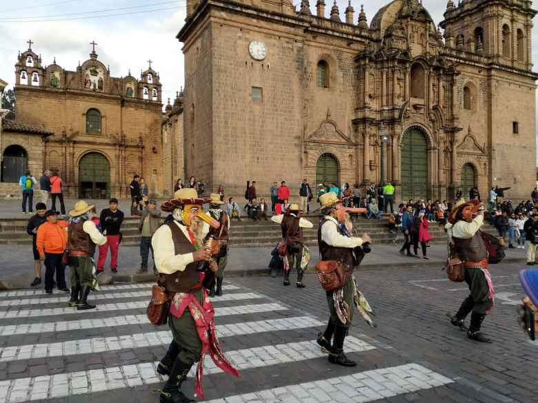 Musicians in the Plaza Mayor del Cusco.