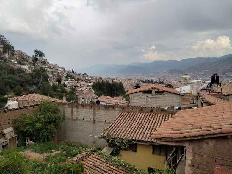 Tile rooftops in Cusco.