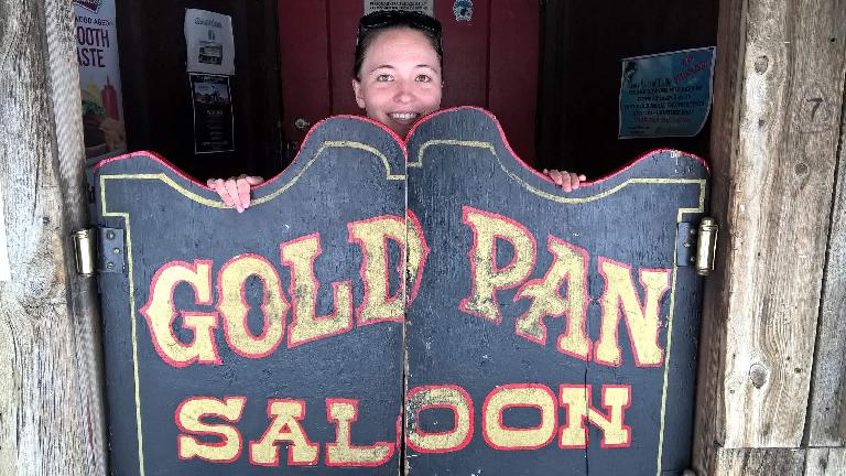 Maureen, Gold Pan Saloon doors