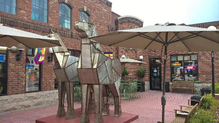 Trojan horse sculptures, Custer, South Dakota