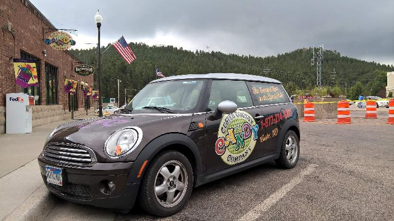 brown Custer County Candy Company Mini Clubman
