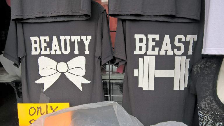 Beauty and the Beast T-shirts.