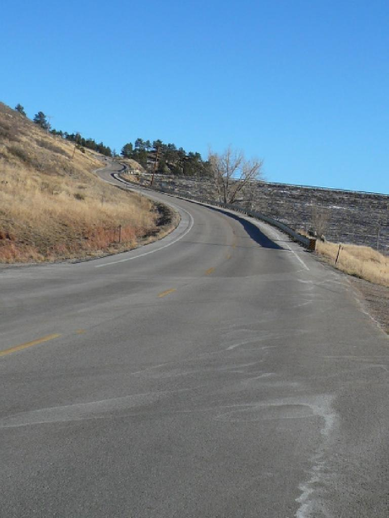 Going up the (north) Dam Hill by the Horsetooth Reservoir in Fort Collins, Colorado.