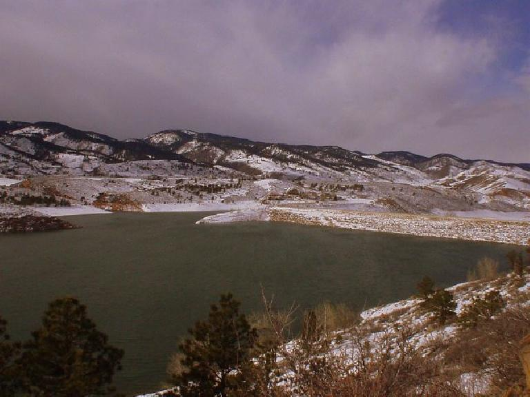 The north end of the Horsetooth Reservoir.