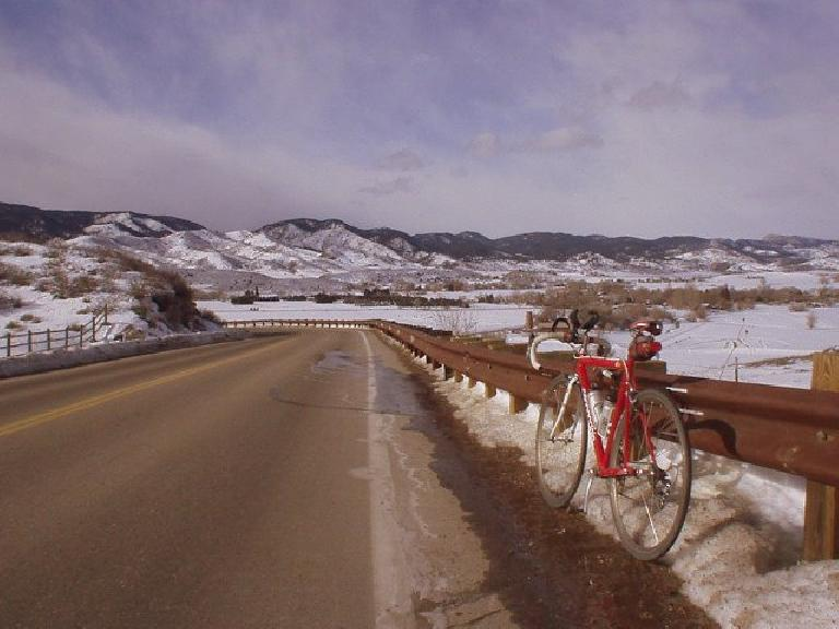 Belying all of the snow was a beautiful January day for cycling in Fort Collins!