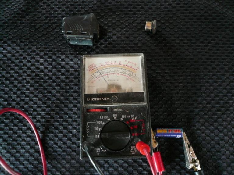 Cyclometer sensor battery.
