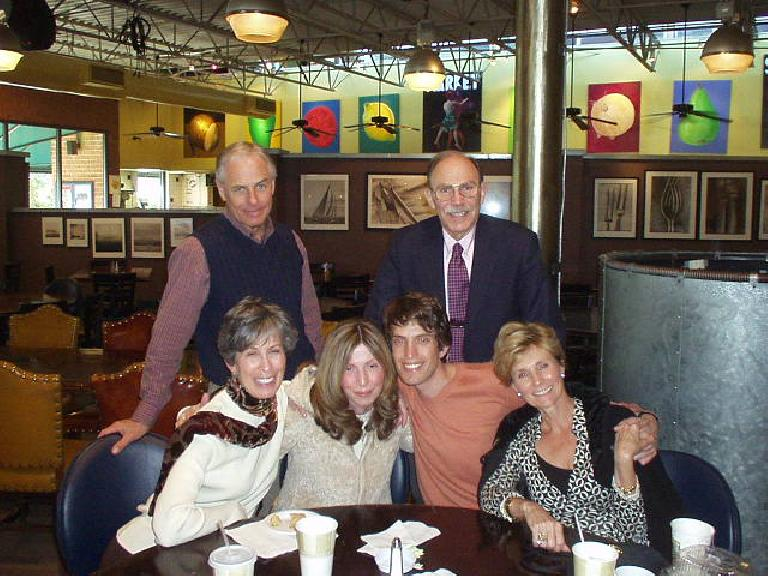 We met with some of Dan's family and friends at George's Garage (a diner) the next day. (February 11, 2007)