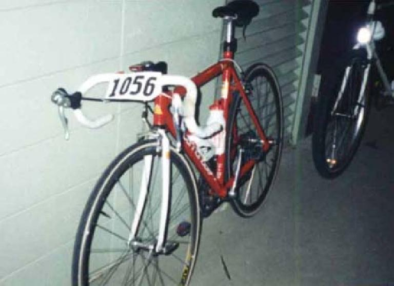 red Cannondale 3.0, 1997 Davis Double Century