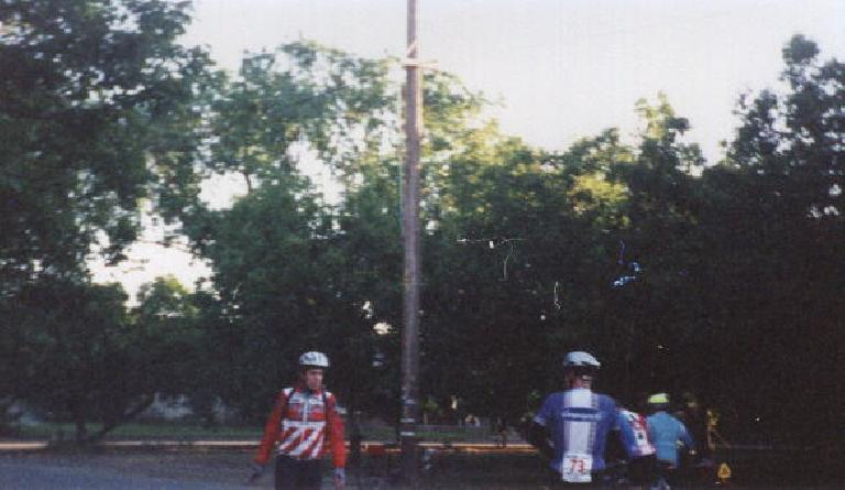 Daniel Lieb at the first rest stop of the 1999 Davis Double Century.