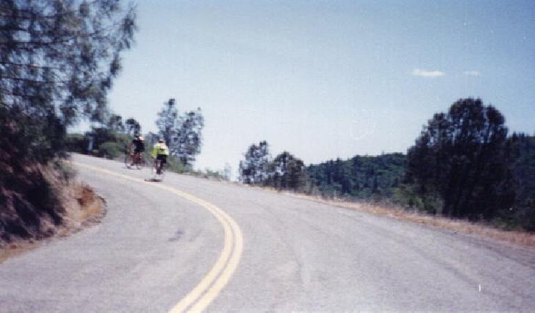 The climb up Big Canyon was the steepest hill of the 1999 Davis Double Century.
