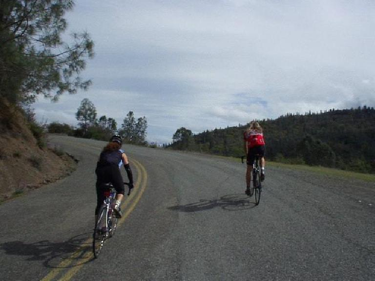 Mile 93, 1:46 p.m.: Last part of the most significant climb of the day: Big Canyon Road, with the peak at 2175 feet.