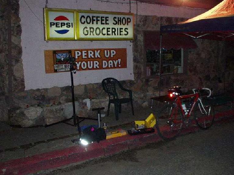 Mile 332, 11:25 p.m.: Almost there: last checkpoint on the road, at the Moscowite Corner Store.  The staff here was super friendly and helpful.  Afterwards, the last 40 miles proved to be no problem.  Next destination: Paris-Brest-Paris!!!