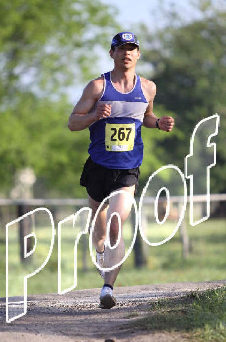 Me in the final mile, pondering victory.
