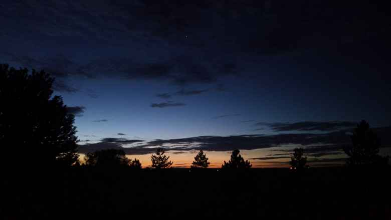 Dawn as seen from my back yard in Fort Collins.
