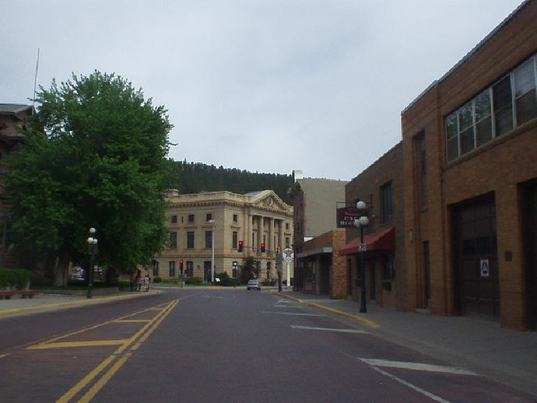 Approaching Main Street in Deadwood.
