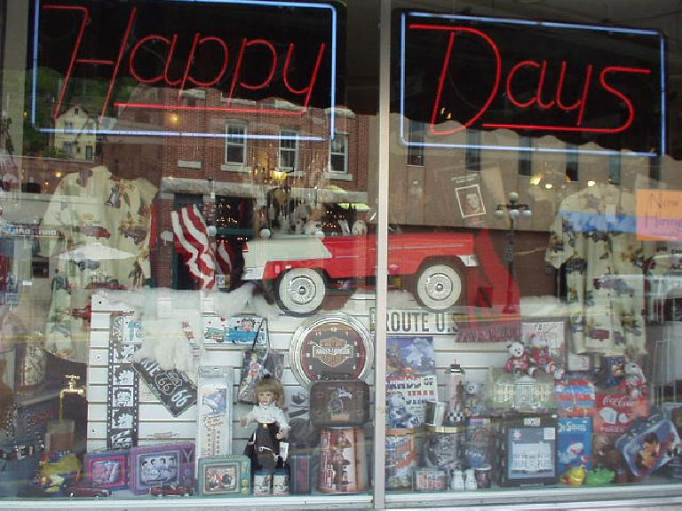 "At least there was this ""Happy Days"" store."
