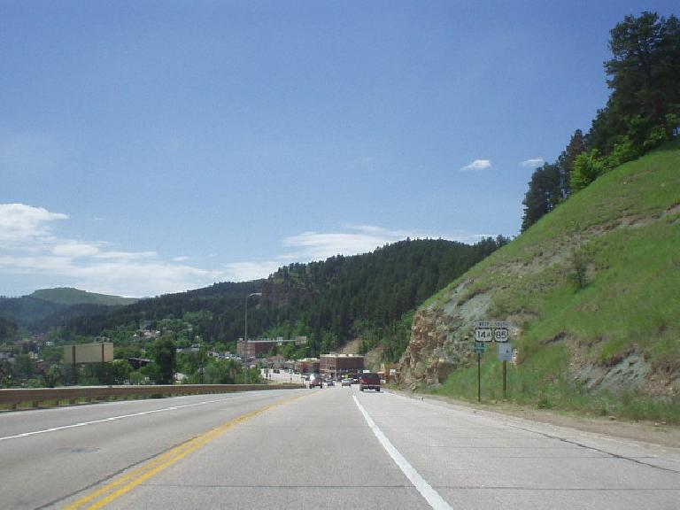 Going back to Deadwood from Sturgis was a beautiful drive.