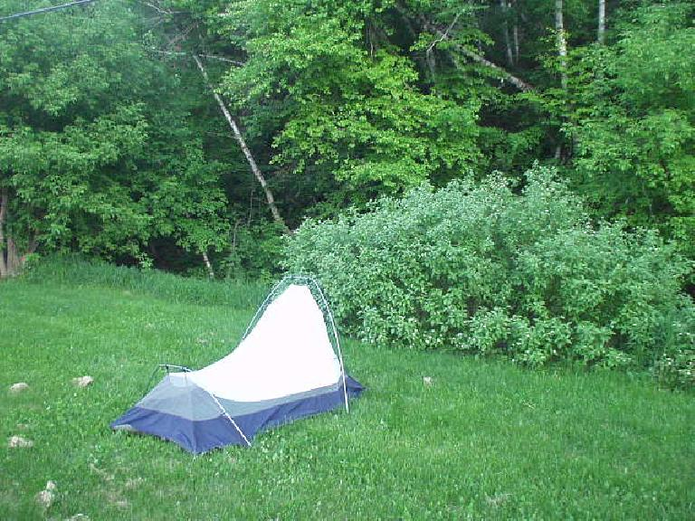 I camped out by a creek at the Days of 76 Campground.  It made for a good night's sleep.