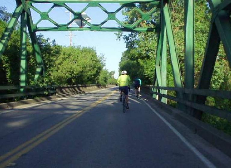 green bridge, cyclist, Delta Century