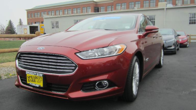 The Aston Martin-like front end of the Ford Fusion Energi,