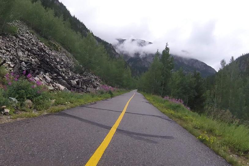 The Frisco Copper bike path near Frisco, Colorado during the 2017 Denver Aspen Classic.