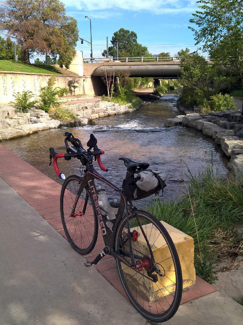 black 2010 Litespeed Archon C2, Cherry Creek bike trail