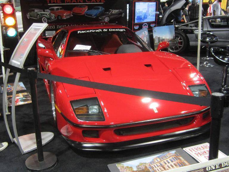 red Ferrari F40, Man Cave Colorado, 2015 Denver Auto Show