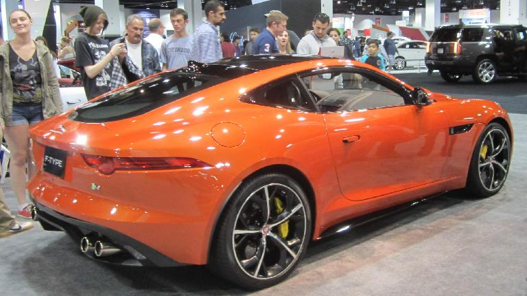 orange 2016 Jaguar F-Type coupe