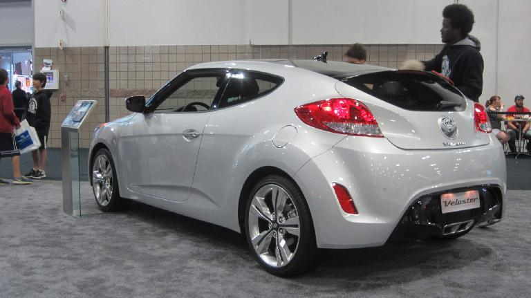 silver Hyundai Veloster
