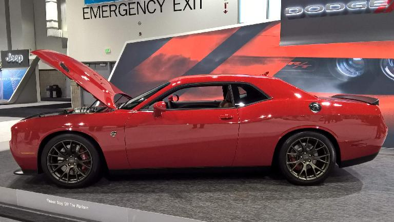 Red 2016 Dodge Challenger R/T.