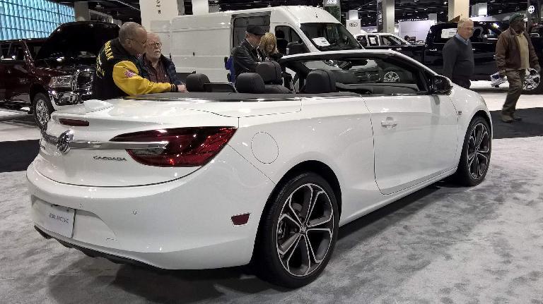 White 2016 Buick Cascada convertible.