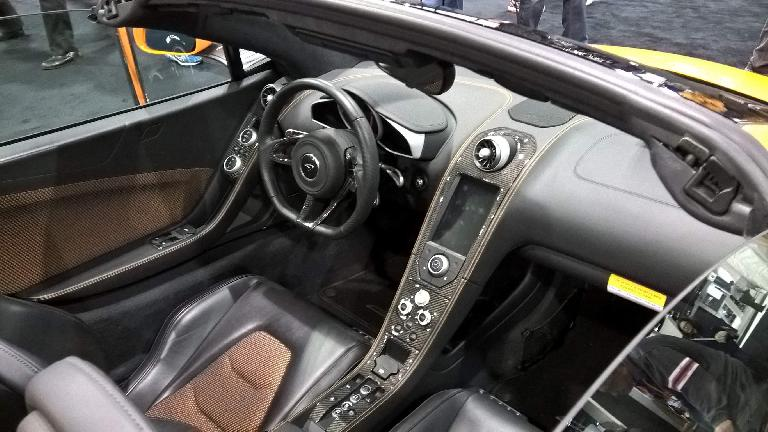 The interior of the McLaren MP4-12C spider.