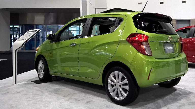 Green 2016 Chevrolet Spark.