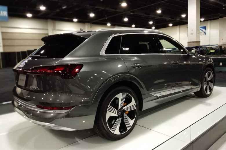 A grey 2019 Audi e-tron.