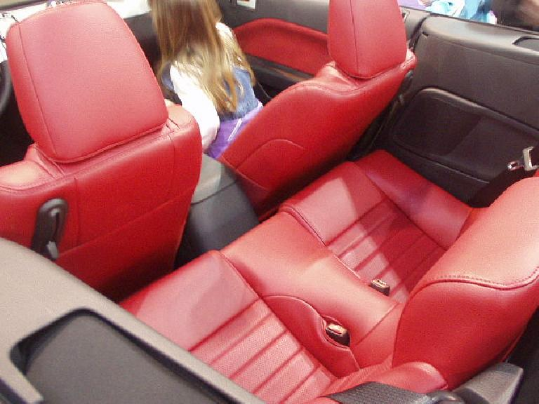 The back seat of the Mustang convertible reminded me of that of my '86 Porsche 944: mostly for groceries.