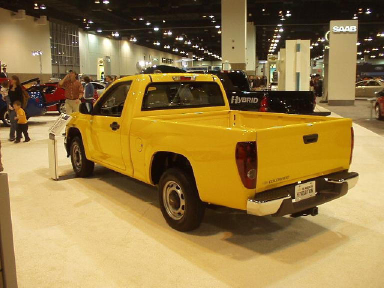 Here's the other vehicle: the Chevy Colorado pickup.