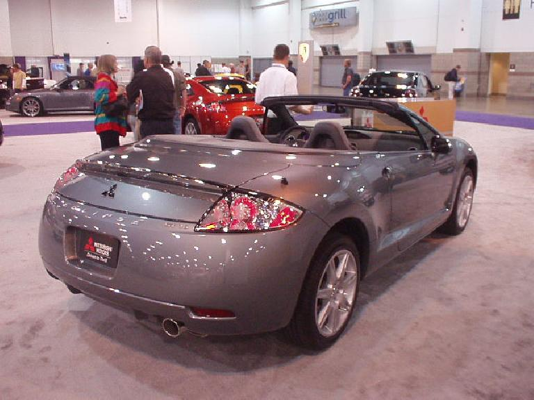 The new Mitsubishi Eclipse Spyder looked okay and has a nifty power top.