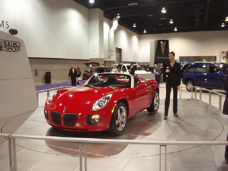 The Pontiac Solstice looked almost as good as it did to me 1.5 years ago as a concept at the SF Auto Show.
